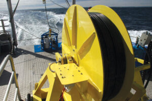 Extruded cable used in an oceanographic application