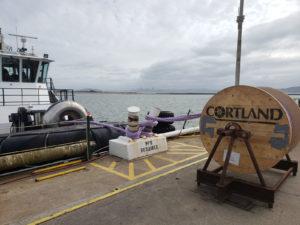 Installing Cortland Plasma® line on a tug