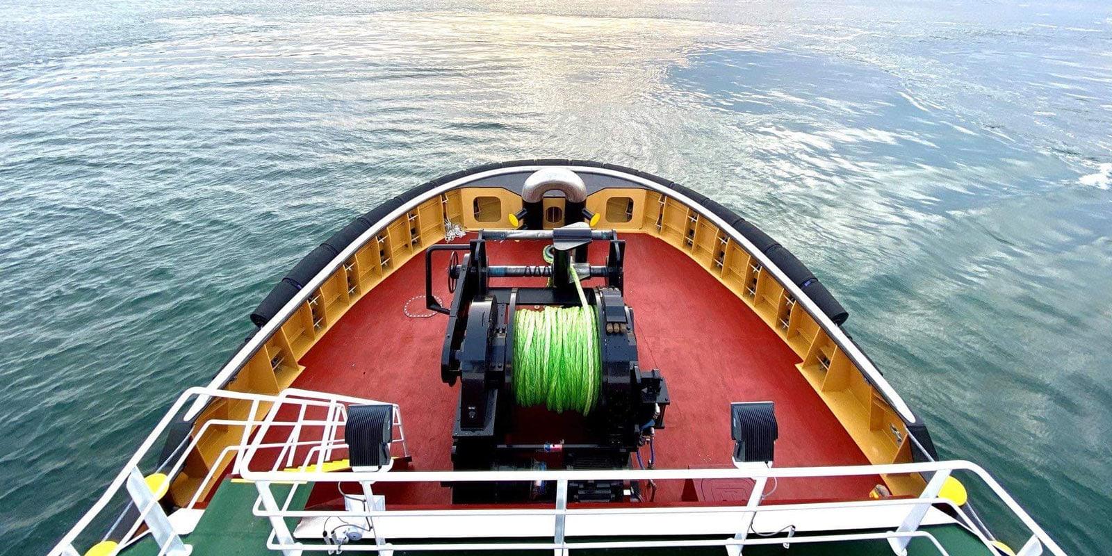Cortland Plasma® LoCo™ on tugboat