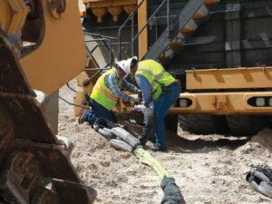 Installing a Cortland Plasma® tow and recovery system on mining equipment