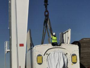 Custom Cortland Plasma®lifting slings assist with wind farm installations