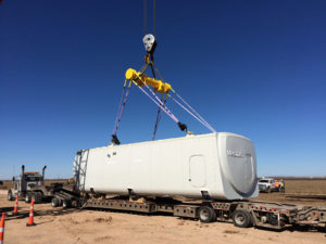 Plasma®lifting slings used to assist with wind farm installations