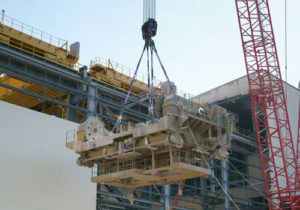 Cortland's Plasma® slings were selected to eliminated 18,000 lbs of rigging weight in this bridge crane lift