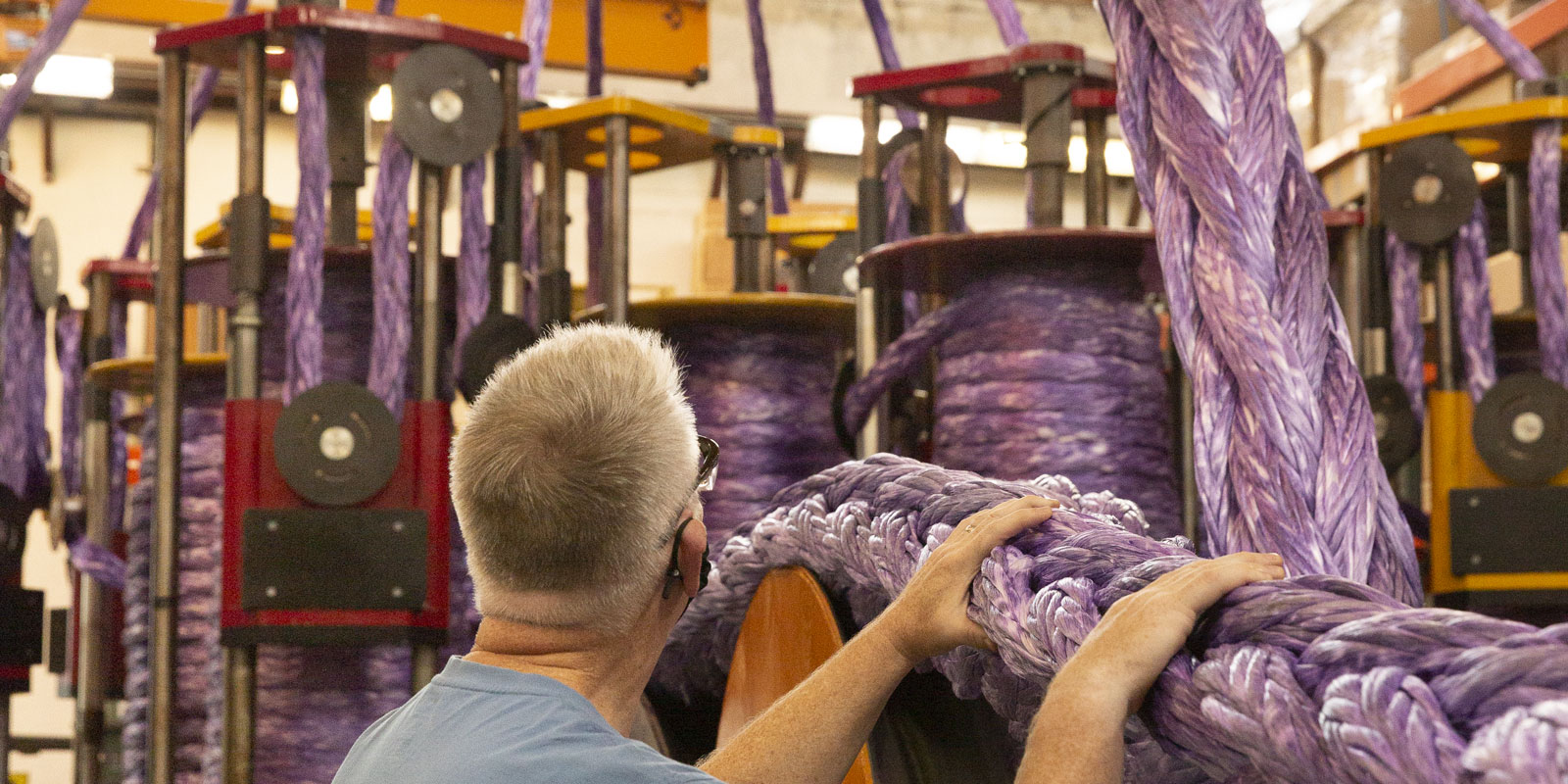 Manufacturing Plasma® rope on large braiding machine