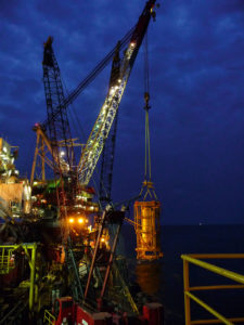 Cortland Selantic®lifting slings in an offshore installation